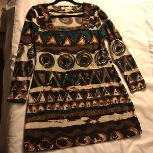 Aryeh -Fuzzy Sweater Dress- Bold Print -Sz. L
